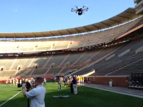 drone-at-football-practice
