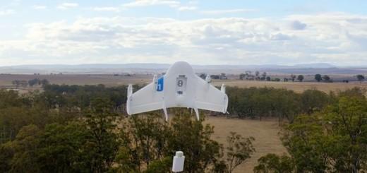 "Projekt doručovacdího dronu Google X ""Wing"", zdroj: Dronelife"