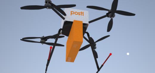 Finská pošta je dalším hráčem, který testuje doručováí pomocí dronů, zdroj: yle.fi
